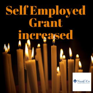 Self employed grant increased