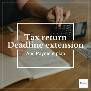 Tax return deadline extension and payment plan