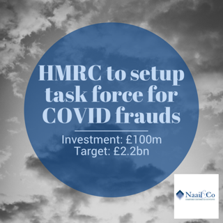 HMRC task force for COVID frauds
