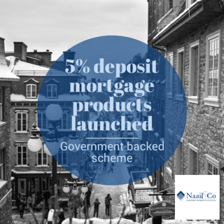 5% deposit mortgage products launched