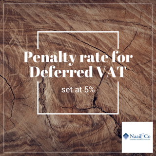Penalty rate for covid deferred VAT