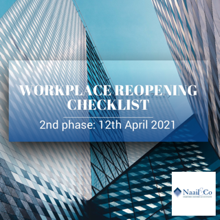 Workplace reopening checklist