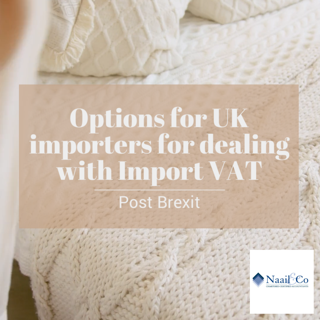 Options for UK importers for dealing with post-Brexit Import VAT