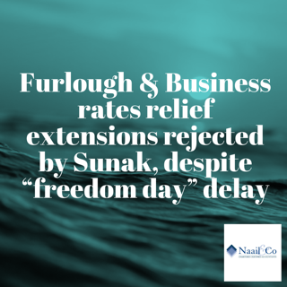 Furlough & Bus rates relief extension rejected