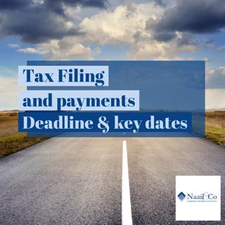 Tax deadline and key dates