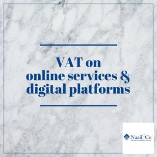 VAT on online service & digital platforms