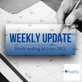 Weekly update 18 June 2021