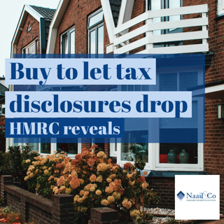 Buy to let tax disclosures drop