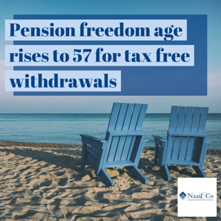 Pension freedom age rises to 57