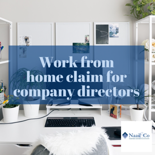Work from home claim for company director