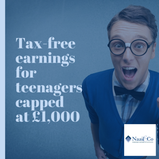 Tax free earnings for teenagers capped at £1,000