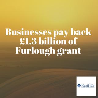 Businesses pay back £1.3 billion of furlough