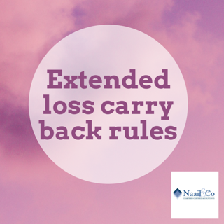 Extended loss carry back rules