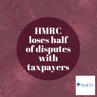 HMRC loses half of disputes with taxpayers